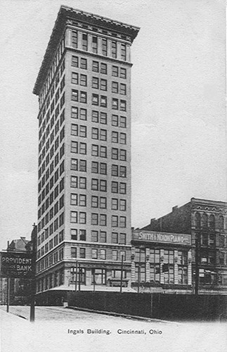 The Ingalls Building in Cincinnati Ohio ws the first reinforced concrete high rise building.