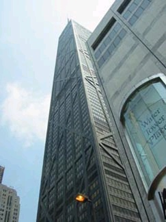 Water Tower Place in Chicago was the tallest reinforced concrete building in the world from 1975 to 1990